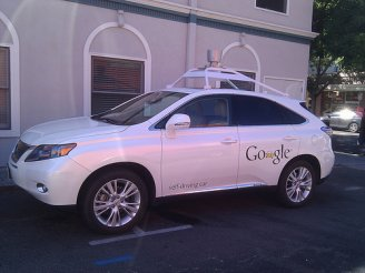 Google self-driving car photo