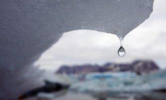 Arctic ice melt photo