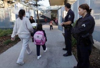 LA school police photo