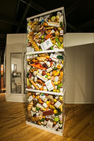 food waste sculpture photo