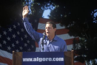 Presidential Fails - Al Gore campaigning photo